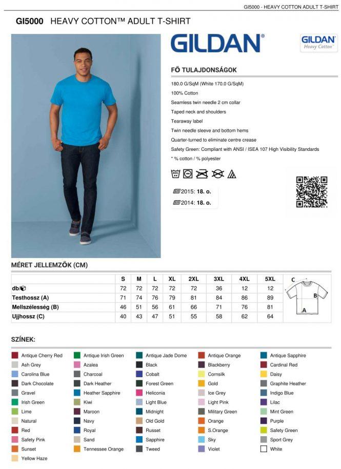 67381ef5ca Gildan GI5000 férfi t-shirt   Pólónyomás, szitanyomás. Pólók ...