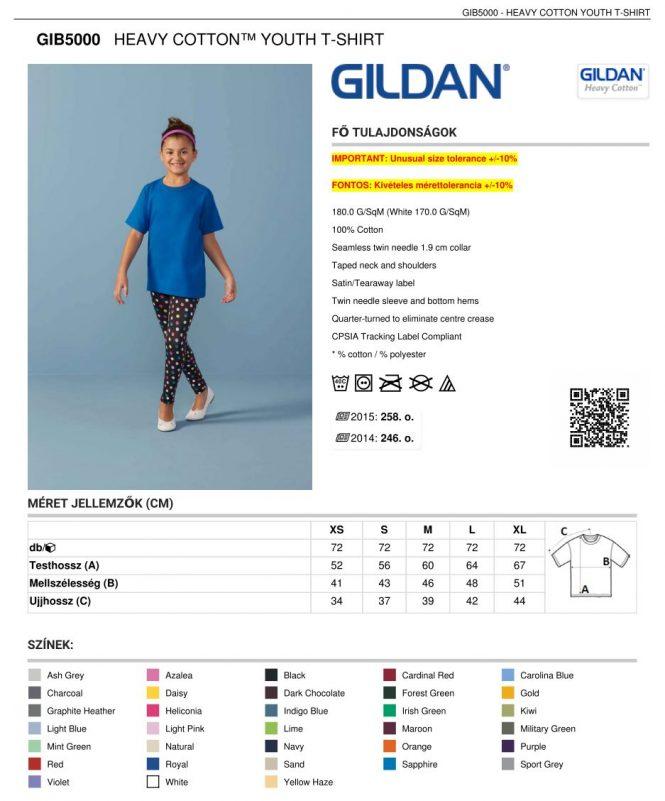 906a303efd Gildan GIB5000 gyermek póló | Pólónyomás, szitanyomás. Pólók ...